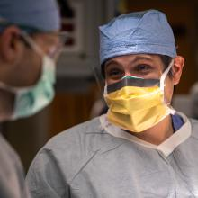 Dr. Victor Oliveras in the operating room at JPS Health Network in Fort Worth, Texas.